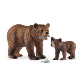 Schleich 42473 Maman grizzly avec ourson