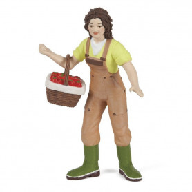 Papo 39219 Woman farmer with basket