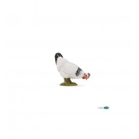 Papo 51160 Poule blanche picorant