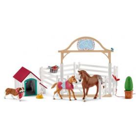 Schleich 42458 Hanna`s Paarden gasten verblijf met hondenhok