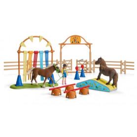 Schleich 42481 Engrainement d'agility pour poney