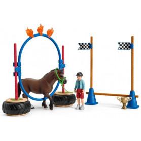 Schleich 42482 Course d'agility pour poney