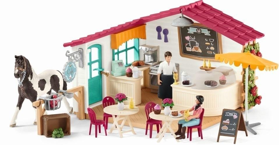 neuf jouet Figurine cafe des cavaliers schleich 42519 horse club