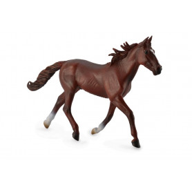 Collecta 88644 Standardbred Pacer Stallion Chestnut