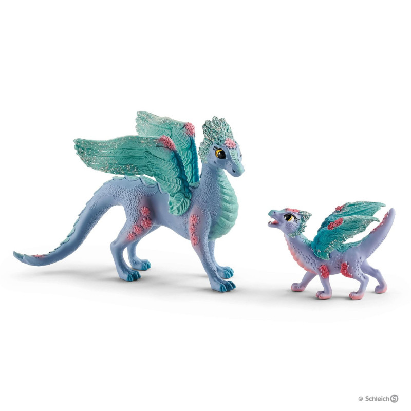 Schleich 70592 Flower Dragon Mum and Baby