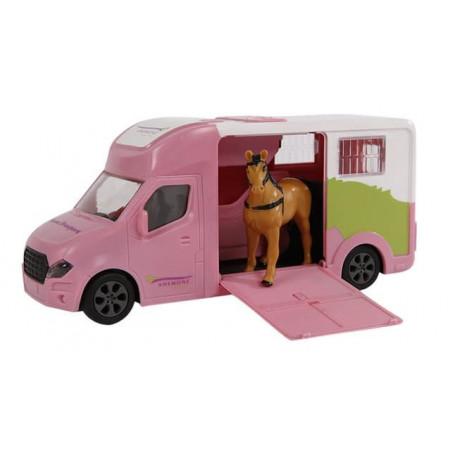 Kids Globe Anemone paardentruck met licht en geluid 20 cm. Roze