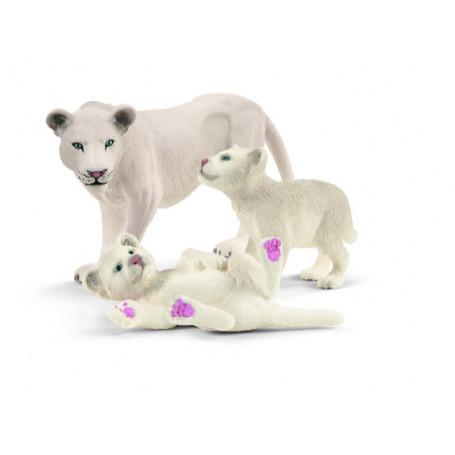Schleich 42505 Leeuwenmoeder met welpjes
