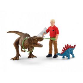 Schleich 41465 Attaque Tyranosaure Rex