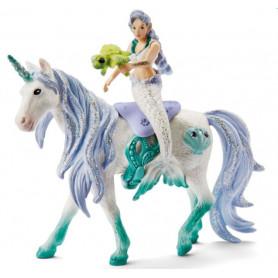 Schleich 42509 Mermaid riding on sea unicorn
