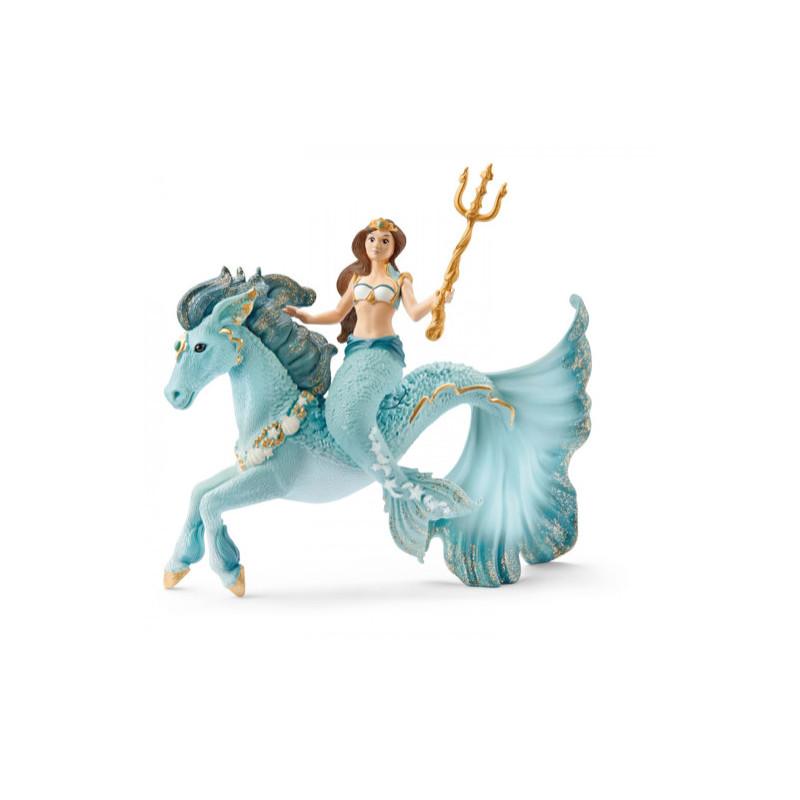 Schleich 42594 Sirene Eyela sur cheval de mer