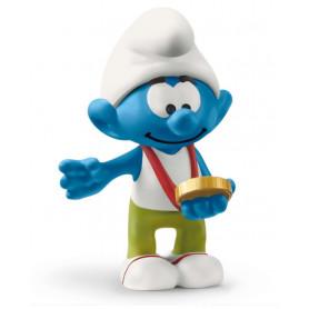 Schleich 20822 Smurf met medaille