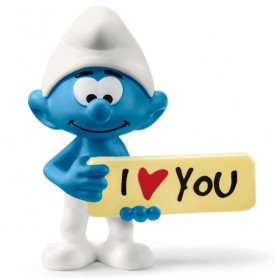 Schleich 20823 Smurf met bord I love you