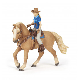 Papo 51566 Wild west horse and cowgirl