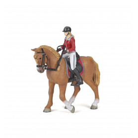Papo 51564 Walking horse with riding girl