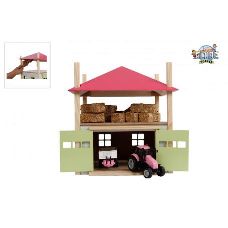 Kids Globe wooden haystack with storage 1:32 pink