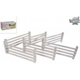 Kids Globe 6 Wooden Fences White