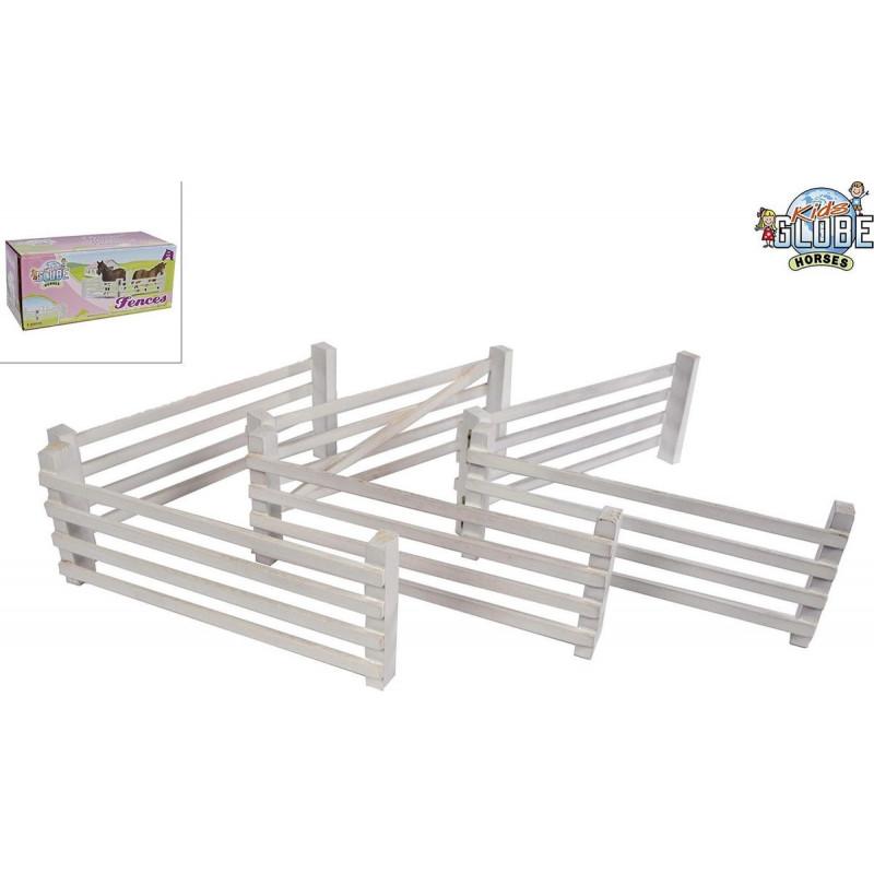 Kids Globe 6 Wooden Fences White