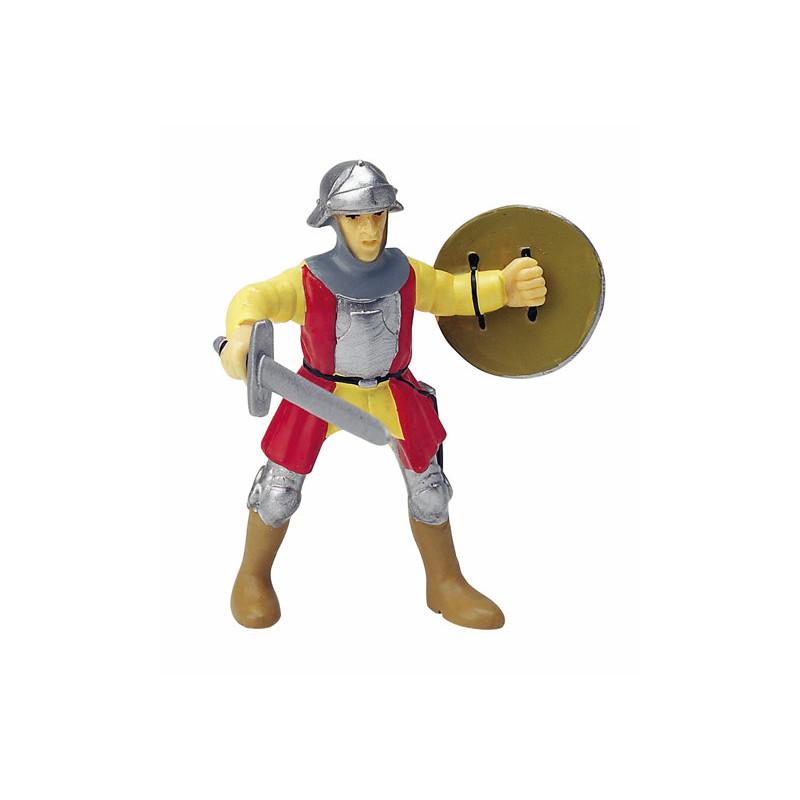Papo 39308 Rood/gele ridder met zwaard