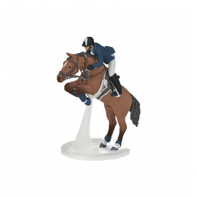 Papo 51562 Jumping horse with rider