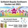 Schleich Bloemeneenhoorn Veulen set 2021 (6 stuks, inclusief gratis Sterrenkist & Betoveringsset)