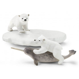 Schleich 42531 Polar Playground (polar bears with narwal)
