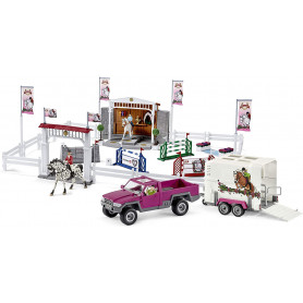Schleich 72105 Big Horse Show with Pick up and Horse Box