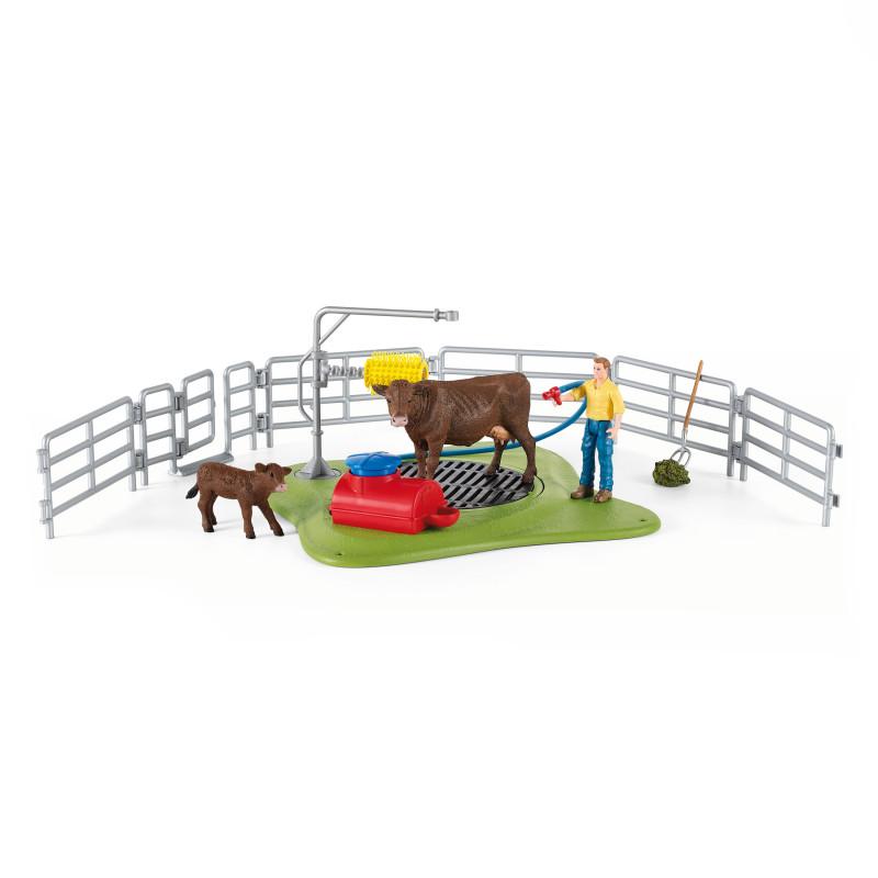 Schleich 42529 Station de lavage de vaches