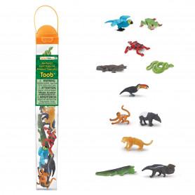 Safari 680504 Mini Regenwoud dieren (11 stuks)