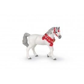 Papo 51568 White Arabian horse in parade uniform