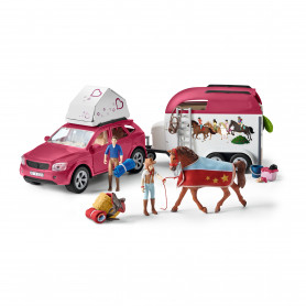 Schleich 42535 Horse Adventures with Car and Trailer