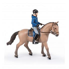 Papo 51565 Wandelpaard met Mannelijke Ruiter