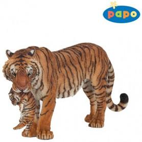 Papo 50118 Tigerin mit Baby