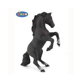 Papo 51522 Black reared up horse