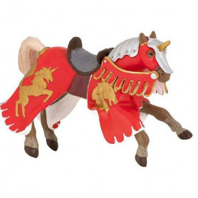 Papo 39248 Reared up red horse with unicorn