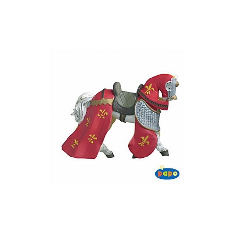 Papo 39390 Paard voor ridder rood-geel