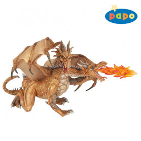PAPO 38938 Dragon deux têtes or