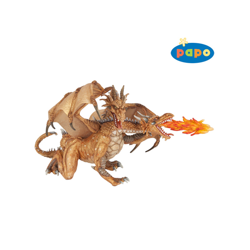 PAPO 38938 Twee koppige draak (goud)