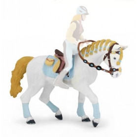 Papo 51545 Trendy riding women's horse blue