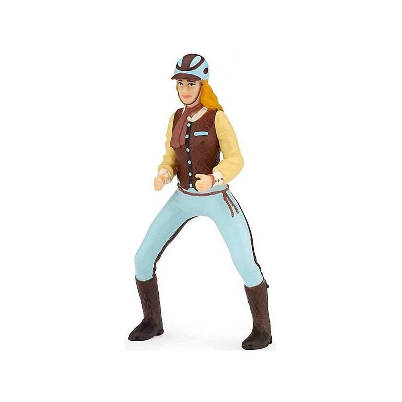 Papo 52009 trendy paardrijdster blauw