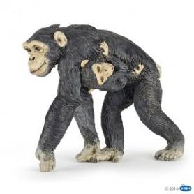 Papo 50194 Chimpanzee met baby