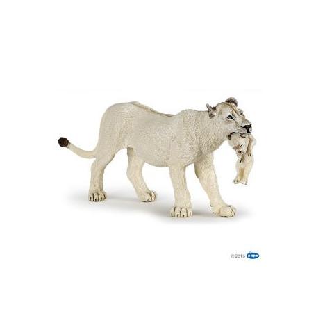 Papo 50203 Weiße Löwin mit Jungtier