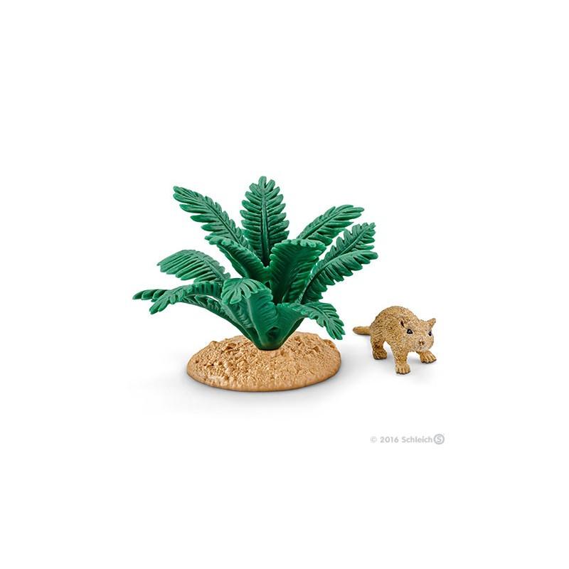 Schleich 42323 Gerbil onder een plant