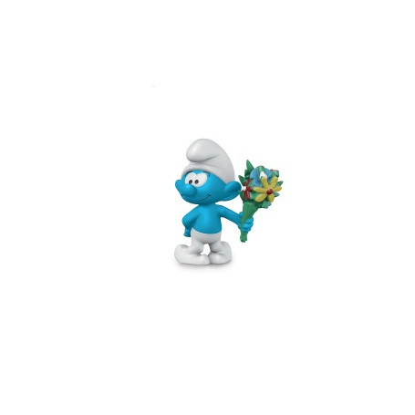 Schleich 20798 Smurf met bos bloemen