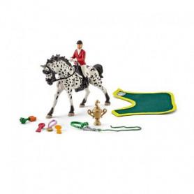 Schleich 41434 Sport Scene Horse Riding Ittur Nier with Knabstrupper Mare Figurine