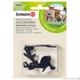 Schleich 42123 Selle de saut d'obstacles + harnais