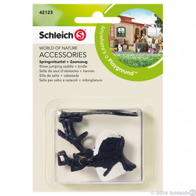 Schleich 42123 Springreitsattel + Zaumzeug
