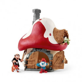Schleich 20803 Smurf House with 2 figures