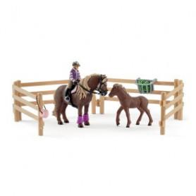 Schleich 42363 Rider with Icelandic Ponies