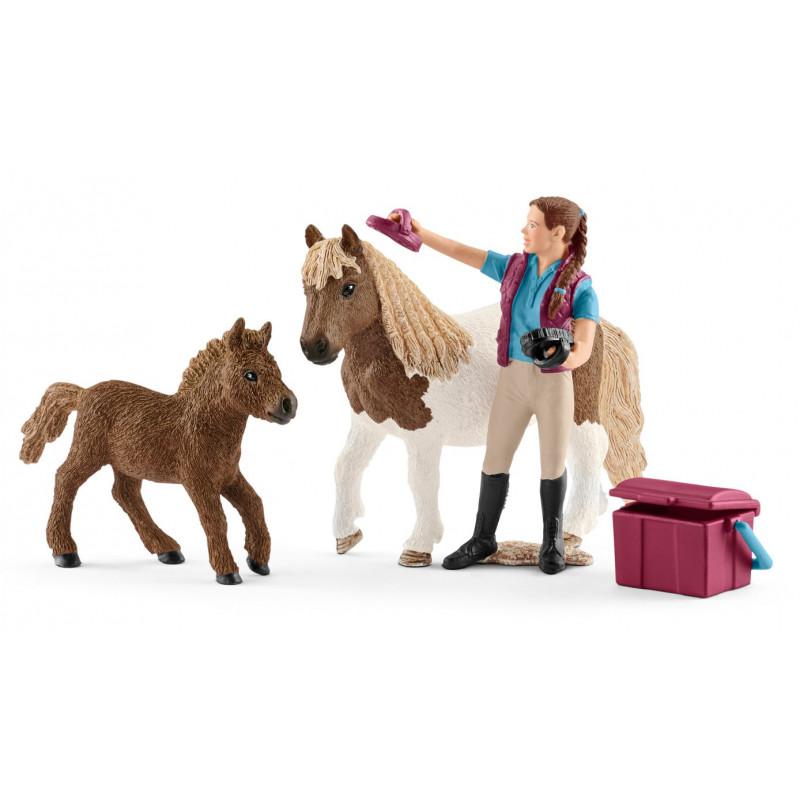 Schleich 42362 Paardenverzorgster Met Shetland Pony