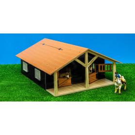 Paardenstal met 2 boxen 1:24 Kids Globe